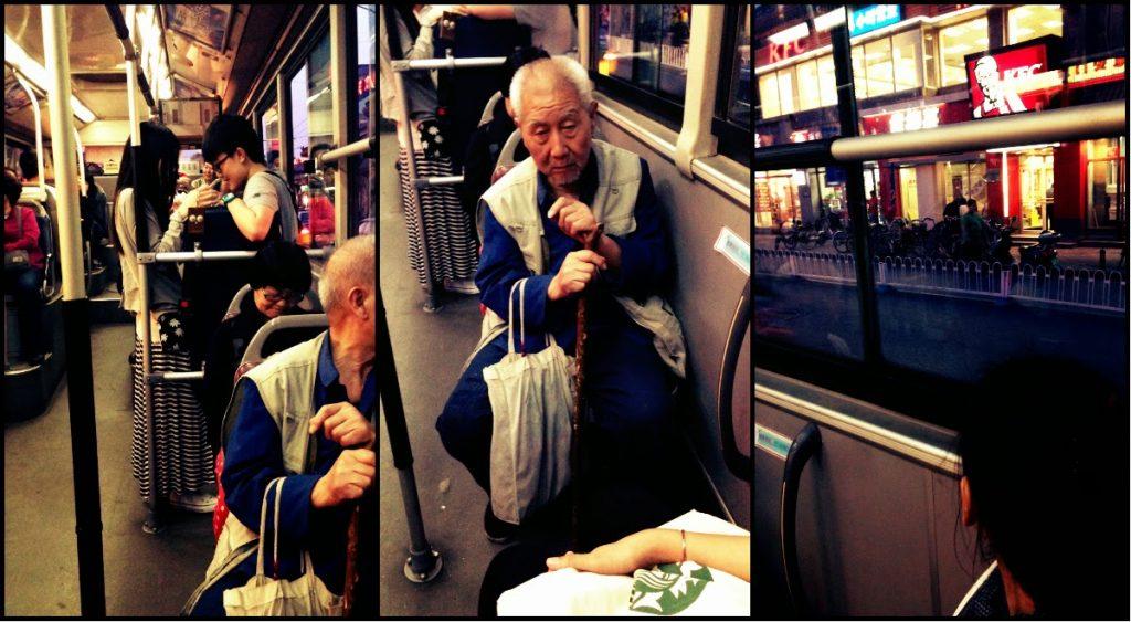 บรรยากาศบนรถเมล์ที่นั่งกลับโรงแรม. จีนก็มี KFC นะเออ.