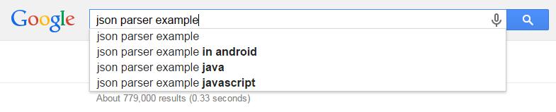 Figure 2. ตัวอย่าง auto-suggest ของ google